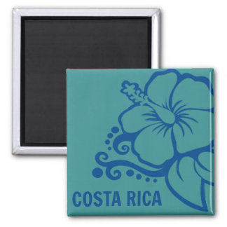 Costa Rica Hibiscus Souvenir Travel Magnet