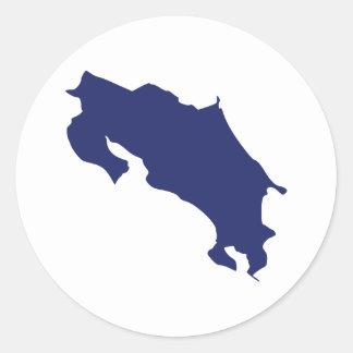 Costa Rica Map Classic Round Sticker