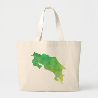Costa Rica Map Large Tote Bag