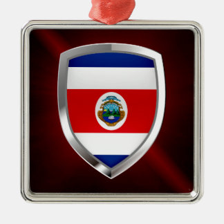 Costa Rica Mettalic Emblem Metal Ornament