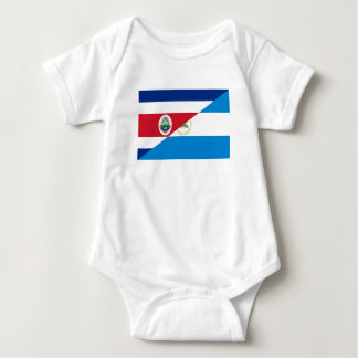 costa rica nicaragua half flag symbol baby bodysuit