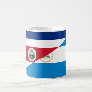 costa rica nicaragua half flag symbol coffee mug
