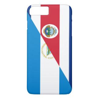 costa rica nicaragua half flag symbol iPhone 8 plus/7 plus case