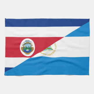 costa rica nicaragua half flag symbol kitchen towel