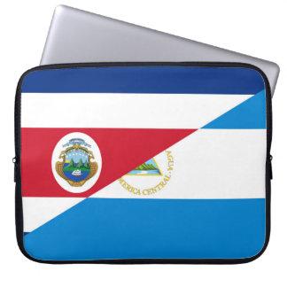 costa rica nicaragua half flag symbol laptop sleeve