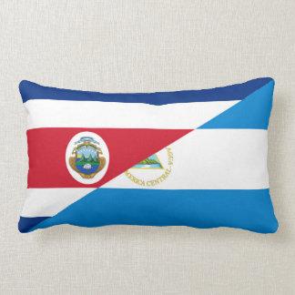 costa rica nicaragua half flag symbol lumbar pillow