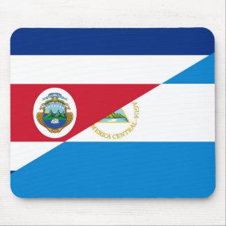 costa rica nicaragua half flag symbol mouse pad