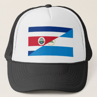 costa rica nicaragua half flag symbol trucker hat