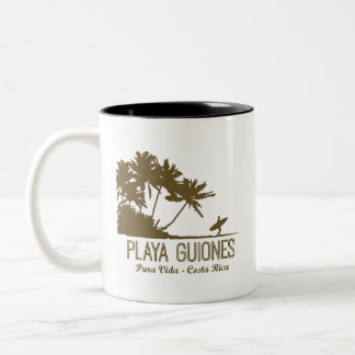 Costa Rica Nosa Playa Guiones Surfers Two-Tone Coffee Mug