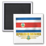 """""""Costa Rica Pride"""" Gift Ideas Square Magnet"""