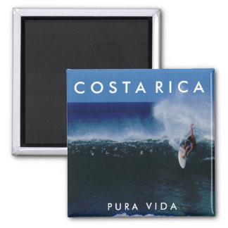 Costa Rica Pura Vida Surf Souvenir Magnet
