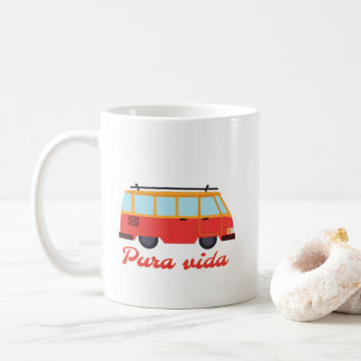 Costa Rica Pura Vida Surf Travel Van Coffee Coffee Mug
