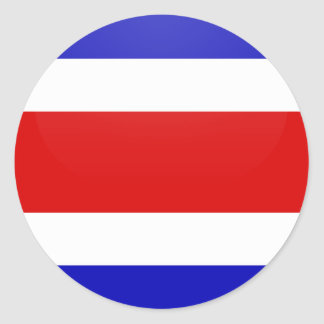 Costa Rica quality Flag Circle Classic Round Sticker