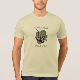 Costa Rica Sloth Hanging From Tree Pura Vida T-Shirt