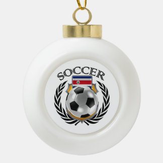 Costa Rica Soccer 2016 Fan Gear Ceramic Ball Christmas Ornament