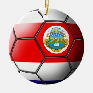 Costa Rica Soccer Ornament