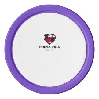 Costa Rica Soccer Shirt 2016 Set Of Poker Chips