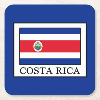 Costa Rica Square Paper Coaster