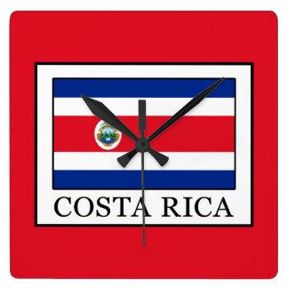 Costa Rica Square Wall Clock