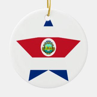 Costa+Rica Star Ceramic Ornament