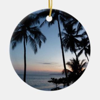 Costa Rica Sunrise Ceramic Ornament