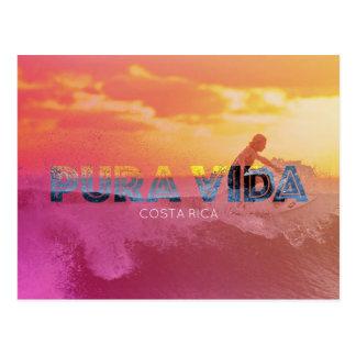 Costa Rica Surfer Pura Vida Postcard