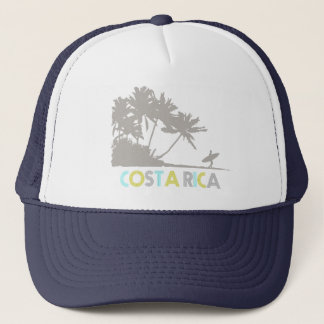 Costa Rica Surfers Tropical Beach Souvenir Trucker Hat