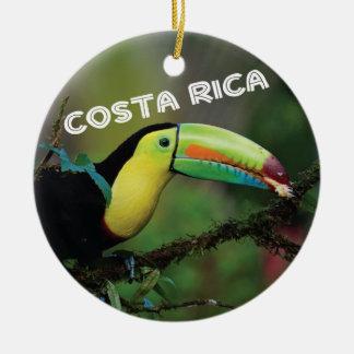 Costa Rica Toucan Ceramic Ornament