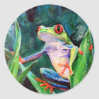 Costa Rica Tree Frog Classic Round Sticker