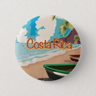 Costa Rica Vintage Travel Poster 2 Inch Round Button