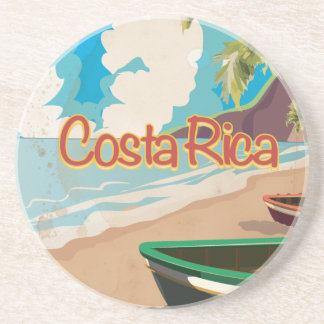 Costa Rica Vintage Travel Poster Drink Coasters