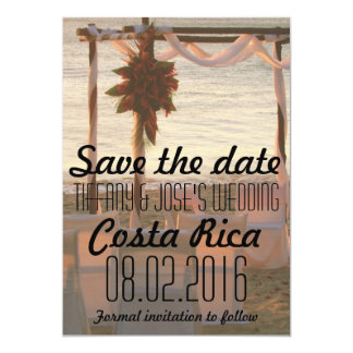 Costa Rica Wedding Save The Date Cards