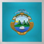 Costa Rican coat of arms Print