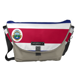 Costa Rican Flag Courier Bag