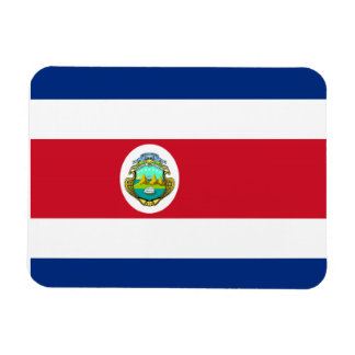 Costa Rican Flag Rectangular Photo Magnet