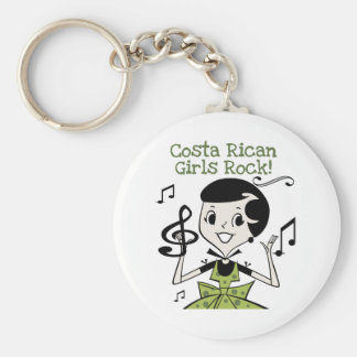Costa Rican Girls Rock Keychain