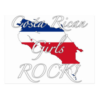 Costa Rican Girls Rock! Postcard