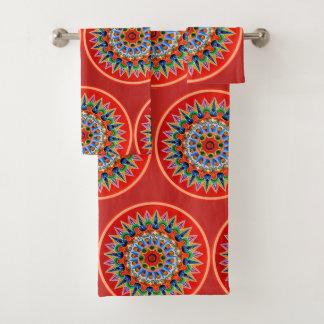 Costa Rican Oxcartwheel Art Bath Towel Set