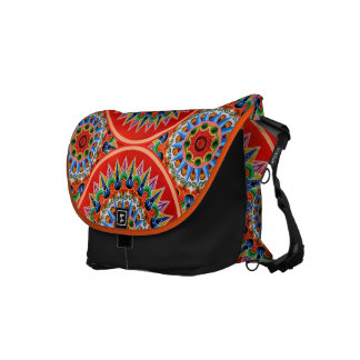 Costa Rican Oxcartwheel Art Courier Bag