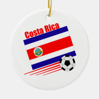 Costa Rican Soccer Team Ceramic Ornament