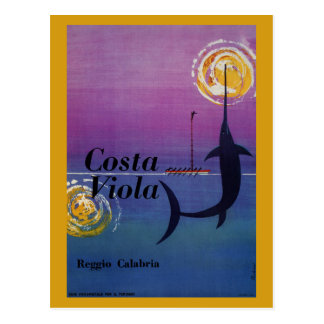 Costa Viola Reggio Calabria vintage Italian travel Postcard