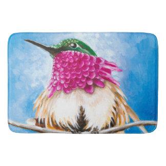 Costa's Hummingbird Bathroom Mat