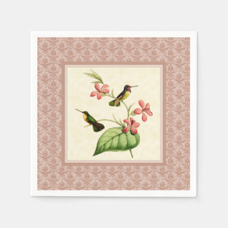 Costa's Hummingbird Damask Paper Napkins