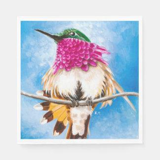 Costa's Hummingbird Disposable Napkins