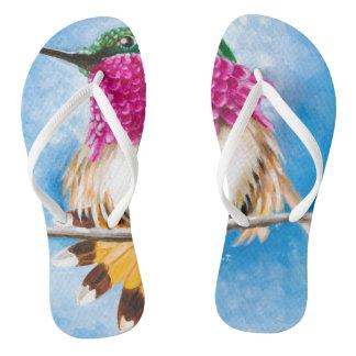 Costa's Hummingbird Flip Flops