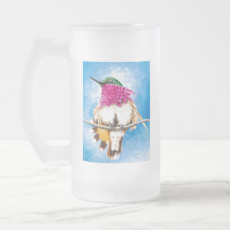 Costa's Hummingbird Frosted Glass Beer Mug