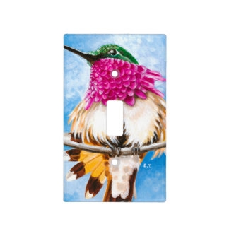 Costa's Hummingbird Light Switch Cover