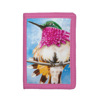 Costa's Hummingbird Trifold Wallets