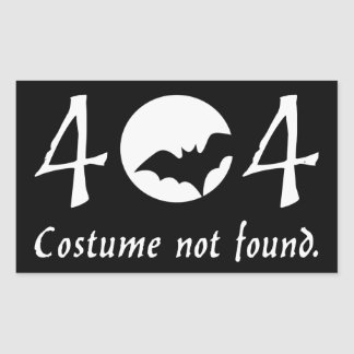 Costume 404 Sticker (Rectangular)