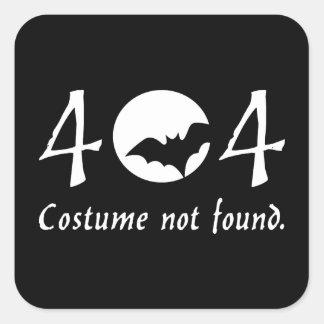Costume 404 Sticker (Square)